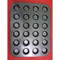 Molde Antiadherente X 24 Mini Muffins, Cupcakes,provoletitas