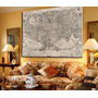Mapa Antiguo 126 Cm X 80 Cm En Tela Canvas Unicos