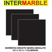 Granito Negro Absoluto Marmeta/baldosa 30.5x30.5x1 Calibrado
