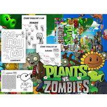 Kit Imprimible Libritos Plantas Vs Zombies Imprimir Y Pintar