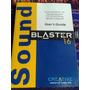 Sound Blaster 16 - Manual Del Usuario Envios Mdq En Ingles