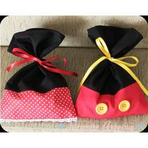Bolsas Tela Souvenirs Mickey Y Minnie