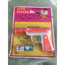 Pistola De Juguete Antigua Plastico Linternita En Blister