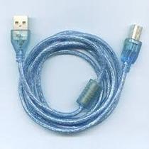 Cable Usb Para Impresora 5mts Mallado Con Filtro Videcom