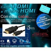Adaptador Cable Hdmi Micro Hdmi Tv Celular Microcentro Orig