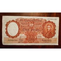 Billete De 100 Pesos Moneda Nacional Argentina Serie E