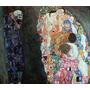 Lamina - Muerte Y Vida - Gustav Klimt - 60 X 55 Cm.