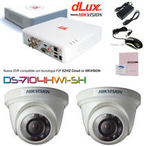 Kit Cctv Dvr Nvr 4ch Hikvision Dlux Full 2 Camaras Ir 2balun