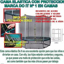 Cama Elastica O Mini Tramp Con Protecion Ideal Para Jardin