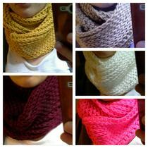 Cuello , Bufanda Infinita , Crochet Por Mayor
