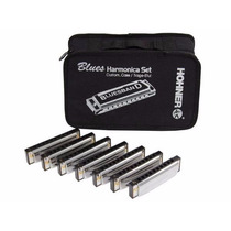 Kit 7 Armonicas Diatonicas Hohner Blues Band Audiomasmuisca