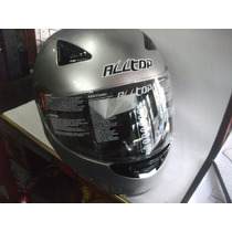 Casco Integral All Top 95 Gris Perla Muy Lindo Bikers Garage