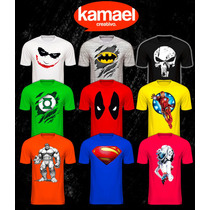 Remeras Comics,superheroes,dc,marvel,hombre,mujer,niño