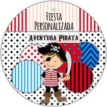Kit Imprimible Personalizado + Candy Bar Piratas Completo