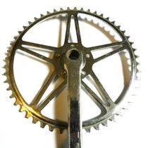 Plato Y Palanca 52 Dientes Bicicleta Inglesa Bsa No Legnano