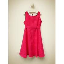 Vestido Blisant Voile De Algodón Rouge T 4-8 Little Treasure