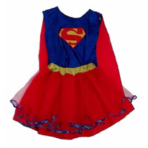 Disfraz Super Girl Superchica Artesanal Talle 5 / 6 Años
