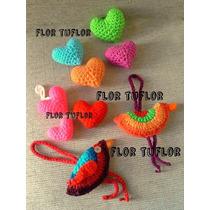 Corazón Amigurumi Mediano Tejido Al Crochet Souvenirs Y Deco