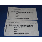 Entradas Festival Revista  Jedbangers (satan Dealers,motosie