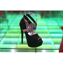 Sandalias Zapatos Plataformas Exclusivas Taco 15cm Stras