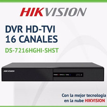 Dvr 16 Canales Hikvision Full Hd Tvi Cctv Grabador Camaras