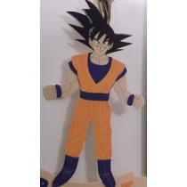 Adorno Pinche Torta - Goku Dragon Ball - Goma Eva 22 X 15 Cm