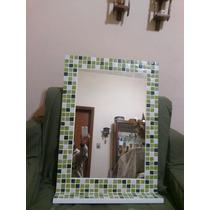 Espejo Venecitas 50x70 Con Estante Decoracion Baño