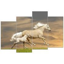 Caballo Y Potrillo En Tela Canvas 80 X 120 Cm Envio S/c