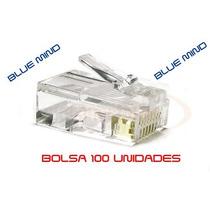 Fichas Rj45 X 100 - Doble Contacto-cable Red Utp - Blue Mind