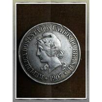 Moneda 1907 Brazil 500 Reis Plata Ref P15-1