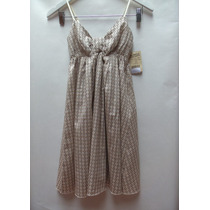 Vestido Estampado Solero Importado Usa T: Xs 100% Algodon