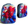 Mochila 3d Hombre Araña Spiderman Frente Semirigido Importad