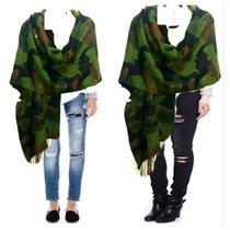 Chalinas Estolas Importadas Camufladas Verde Militar