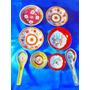 El Arcon Lote De 8 Bols Y Cucharas Arroceras Ceramica 26108