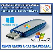 Windows 8.1 Pro Original + Office 2013 En Pendrive 16gb