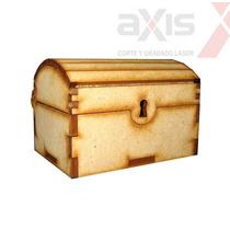 10 Cofres Cajas De 8cm Baul Souvenir Fibrofacil Mdf Tesoro