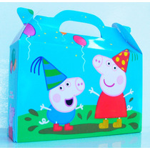 Cajita Bolsita Peppa Pig Souvenirs Infantiles Pack X30