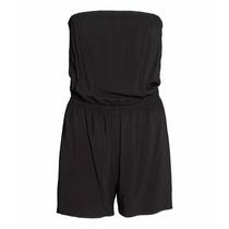 Mono Straples Color Negro  Marca Hym H&m Nueva Con Etiqueta