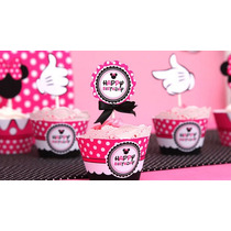 Kit Imprimible Mikey Minnie Wrappers Toppers Conos Y Cajas