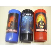 Vasos Plasticos Personalizados Halloween Lavables - 10u