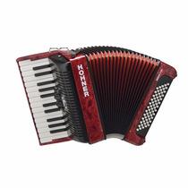 Acordeon A Piano Hohner Bravo 60 Bajos Rojo Audiomasmusica