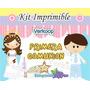 Kit Imprimible Primera Comunion Niña Y Niño Souvenirs Nene A