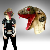 Mascara Latex Cobra Serpiente Disraz Animal Loco Halloween