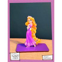 Souvenir Evento Aplique Madera 30cm Princesa Disney Rapunzel