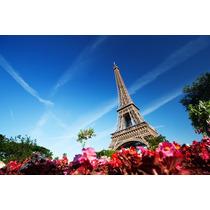 Cuadro De Torre Eiffel, Paris En Canvas Con Bastidor 95x63