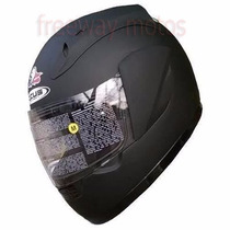 Casco Zeus 802 Integral Liso Negro En Freeway Motos !