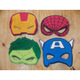 Antifaces Superheroes Hulk H. Araña Cap. America Iron Man