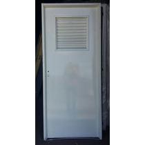Puerta Chapa 18/18 Con Ventilación Superior 0.80x2.00