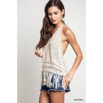 Top Crop Remera Tejido Crochet Varios Modelos