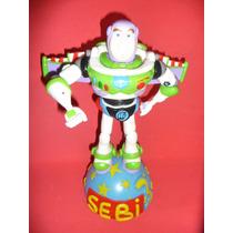 Toy Story Buzz + Base Adorno Para Torta En Porcelana Fria